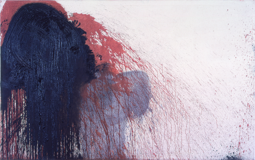 Hermann Nitsch,  40. painting action (Museum of the 20th Century Vienna), 1997 oil and blood on canvas (c) Atelier Hermann Nitsch