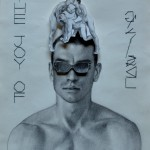Gonzalo Orquín, The joy of gay sex, 2015, cm 40 x 30, matita e ritaglio su carta. Courtesy Gammalambda Ltd, London