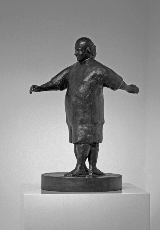 Urs Lüthi, Spazio Umano I, 2007, bronzo cm 45 × 22 × 15. Courtesy Collezione Paolo Brodbeck