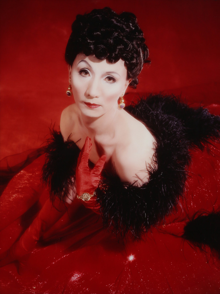 Yasumasa Morimura, Self-portrait: (Actress) after Vivien Leigh 2, 1996, c-print cm 128 × 98,5. Courtesy the artist and Galleria Pack. Ph. Giuliano Plorutti